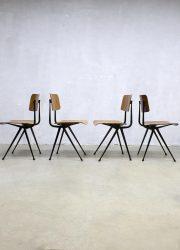vintage Friso Kramer industrial chairs industriële schoolstoelen Wim Rietveld Ahrend de Cirkel Dutch design