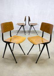 vintage design dinner chairs eetkamerstoelen Dutch design Wim Rietveld Ahrend de Cirkel industrieel