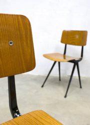 vintage Wim Rietveld Ahrend de Cirkel eetkamerstoelen stoel Dutch design