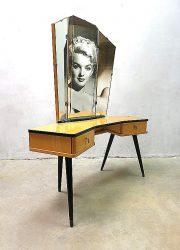 Mid century modern dressing table vanity table kaptafel
