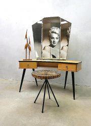 Vintage dressing table vanity table sixties Dutch design kaptafel
