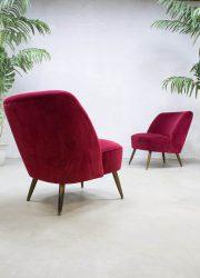 retro vintage cocktail stoel velour velvet cocktail chairs fifties