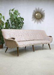 vintage retro midcentury modern lounge bank sofa Danish Scandinavian style
