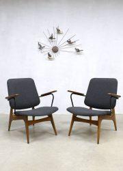 midcentury modern lounge chairs armchair fauteuil Webe Louis van Teeffelen