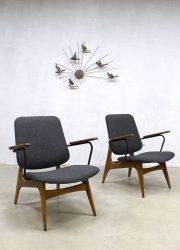 vintage lounge stoelen Webe Louis van Teeffelen