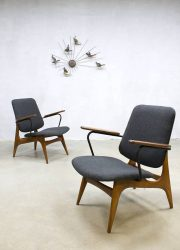 Vintage armchairs WéBé lounge fauteuils Louis Van Teeffelen