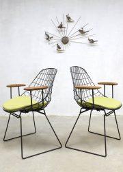 Industrial vintage design wire chairs draadstoelen Pastoe Cees Braakman CH05