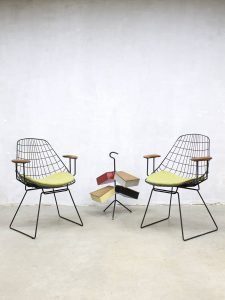 Midcentury design wire chairs draadstoelen Pastoe Cees Braakman