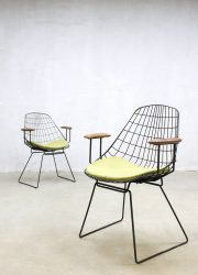 Vintage dutch design wire chairs draadstoelen Pastoe Cees Braakman