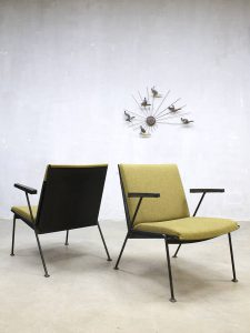 Vintage Dutch design Oase lounge chairs stoelen Wim Rietveld