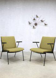 midcentury modern Dutch design fauteuils stoelen Wim Rietveld Gispen