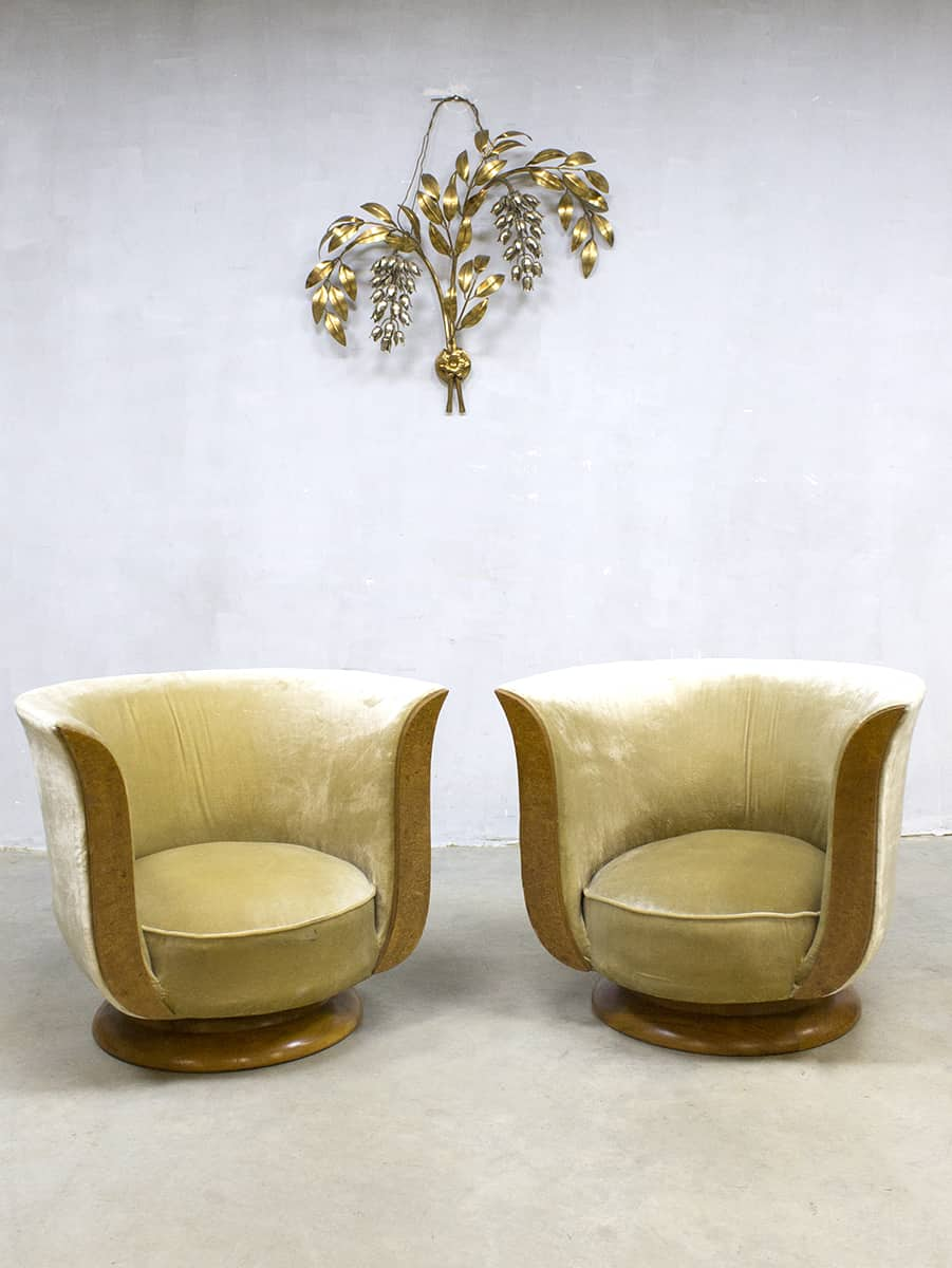 Art Deco Kuipstoelen.Art Deco Tulip Lounge Chairs Tulpstoel Hotel Le Malandre