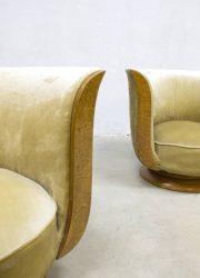 art deco tulp stoel tulpstoelen tulipchairs Le Malandre model Depose