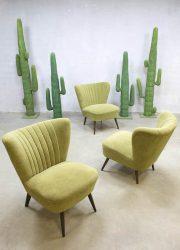 Vintage jaren 50 cocktail stoelen cocktail chairs fifties clubfauteuil expo chair