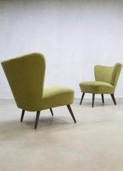 vintage retro cocktail stoel groen cocktail chair fifties