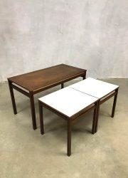 aren 60 retro salontafel bijzettafel Pastoe stijl mimiset nesting tables coffee table sixties