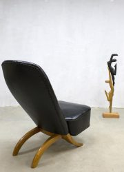 Midcentury modern vintage Dutch design congo chair fauteuil Theo Ruth Artifort