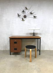Vintage Dutch design bureau desk Cees Braakman Pastoe Japanse serie