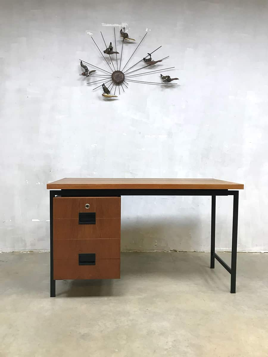 vintage dutch design bureau desk cees braakman pastoe. Black Bedroom Furniture Sets. Home Design Ideas