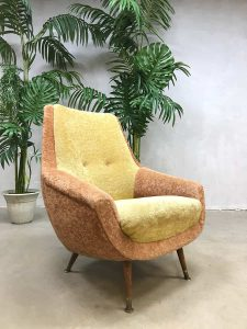 Midcentury colored Teddy armchair lounge stoel fifties