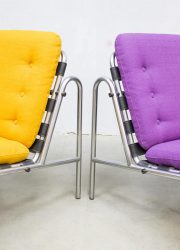 vintage lounge chair industrieel Industrial vintage design lounge stoel Martin Visser