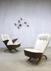 Vintage lounge chair Congo Artifort Theo Ruth Pinguin chair fauteuil