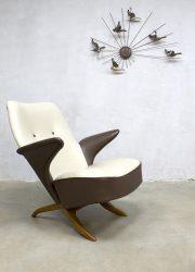 midcentury modern Dutch design Artifort lounge chair armchair Theo Ruth African chair model