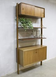 Vintage modular wall unit wandsysteem William Watting Fristho