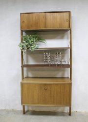 vintage deens wandmeubel kast wall unit Danish midcentury modern