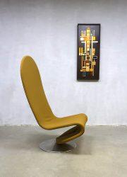Vintage Danish design rocking easy chair Verner Panton Fritz Hansen