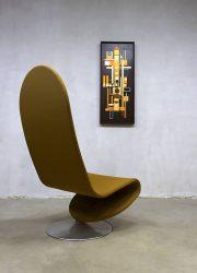 midcentury modern easy chair rocking chair Verner Panton Fritz Hansen