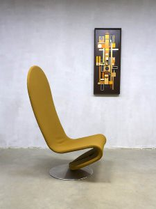 Vintage Danish design rocking easy chair Verner Panton Fritz Hansen