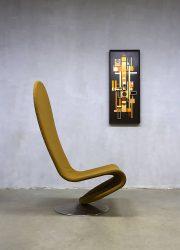 vintage design rocking chair lounge fauteuil Fritz Hansen Verner Panton Danish design Frits Hansen