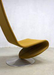 midcentury modern fauteuil stoel Deens design Verner Panton Fritz Hansen