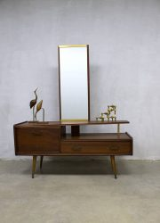 Vintage A-symmetric dressing table vanity table sixties Deens design kaptafel