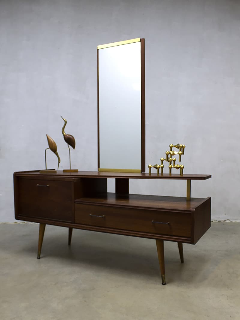 Vintage A Symmetric Dressing Table Vanity Table Sixties