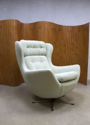 Vintage design swivel wingback chair lounge chair egg chair