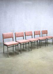 Vintage Dutch design dinner chairs eetkamerstoelen Martin visser stijl