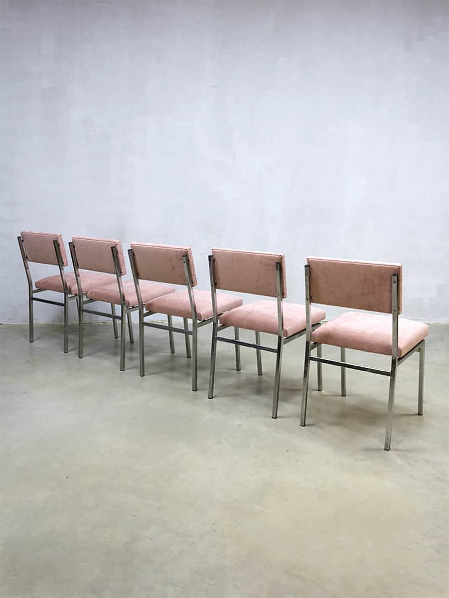Vintage dutch design dinner chairs eetkamerstoelen martin for Dutch design eetkamerstoelen