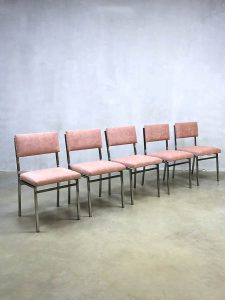 Vintage Dutch design dinner chairs eetkamerstoelen Martin visser stijl