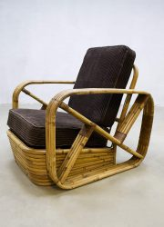 Vintage rattan bamboo chair rotan bamboe lounge fauteuil Paul Frankl