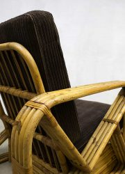 Vintage Art Deco bamboo chair bamboe fauteuil Paul Frankl