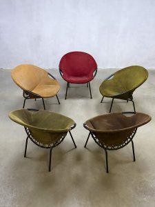 Vintage suède kuipstoelen balloon chairs Lusch & Co, Erik Ole Jørgensen