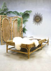 Vintage rotan bed bank sofa rattan daybed Rohe Noordwolde