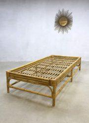 vintage bamboe rattan daybed Dutch design rotan sofa