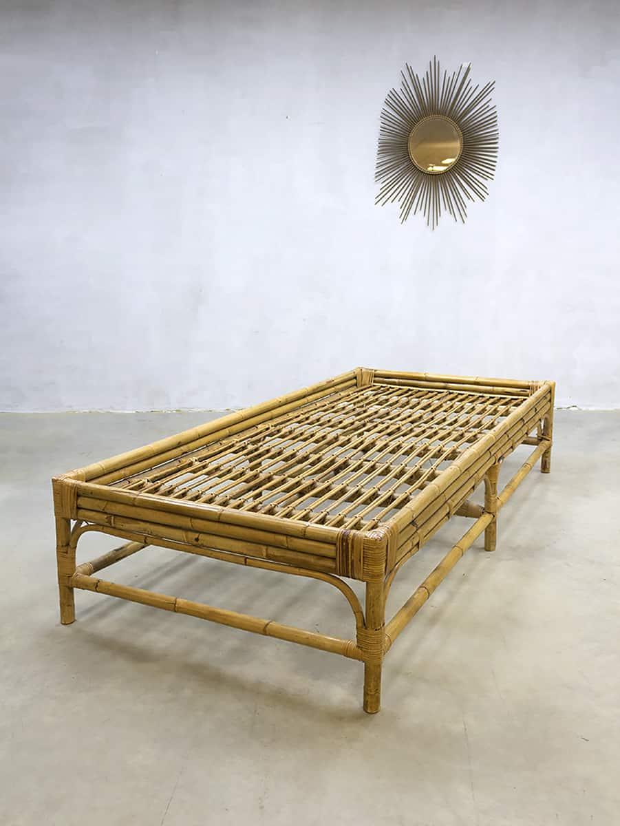 vintage rattan daybed rotan sofa rohe noordwolde