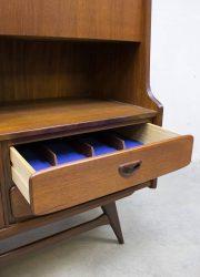 midcentury modern Scandinavian design teak wood cabinet Louis van Teeffelen Webe dressoir