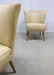 vintage retro sixties design cocktailstoelen club chair jaren 60