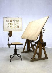 Vintage Industrial drawing table tekentafel industrieel Ahrend de Cirkel