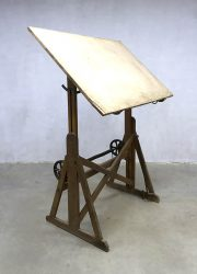 vintage retro tekentafel drawing table Industrial Ahrend de Cirkel Ahrend en Zoon